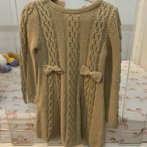 Tommy Bahama toddler girl cable knit sweater dress